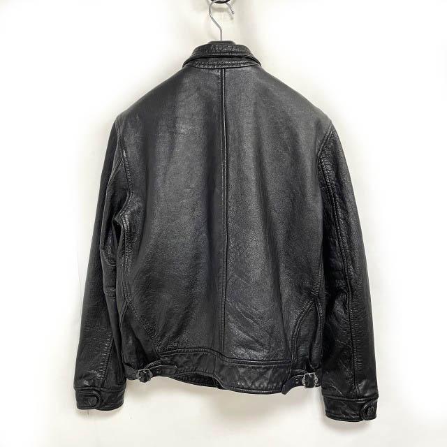 リーバイス ビンテージ クロージング LEVI'S VINTAGE CLOTHING 希少 1930s Menlo Cossack Leather Jacket レザージャケット イタリア製 黒 ブラック S 0423 メンズ