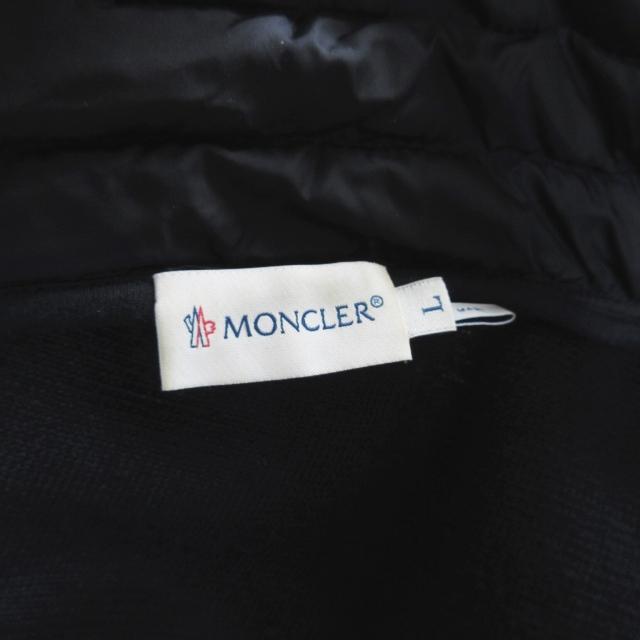 モンクレール MONCLER MAGLIA CARDIGAN マグリア カーディガン ダウンジャケット ボア 切替 ネイビー Ⅼ 0516 メンズ