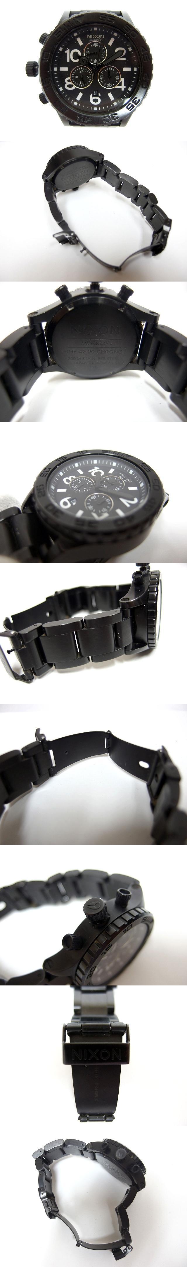 腕時計 THE 42-20 CHRONO ステンレススチール 文字盤黒 ブラック /C