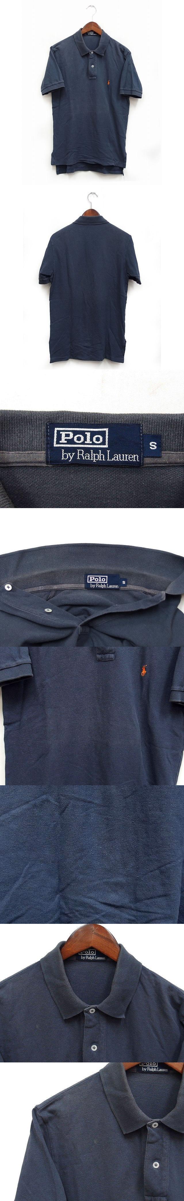 国内正規 ポロシャツ カットソー 半袖 カノコ コットン 綿 無地 ワンポイント S ネイビー 紺 /K