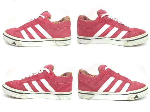 アディダス adidas スニーカー スケートシューズ 靴 スエード 03年製 015152 赤 レッド 27cm メンズ