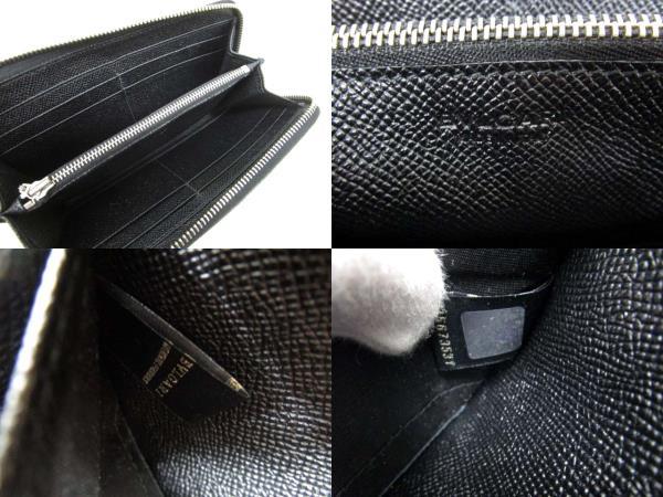 3f19842e2f2d ブルガリ BVLGARI クラシコ CLASSICO 長財布 ラウンドファスナー グレインレザー クロ ブラック ☆AA☆ メンズ