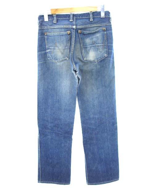 ラングラー WRANGLER 50's 11MWZ 縦ベル 刺繍タグ デニム パンツ CONMARジップ ヴィンテージ ジーンズ ブルー メンズ