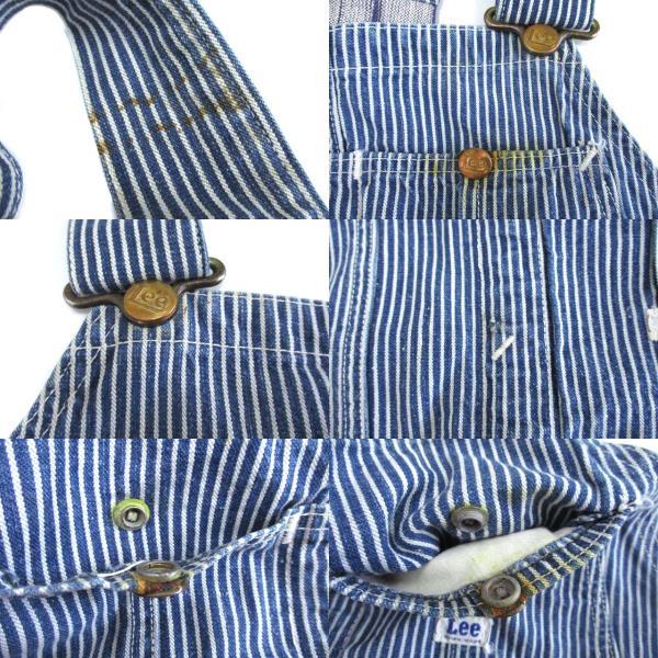 リー LEE 50's 刺繍タグ オーバーオール ローバック ロングL ヒッコリー ワークウェア オリジナル ヴィンテージ メンズ