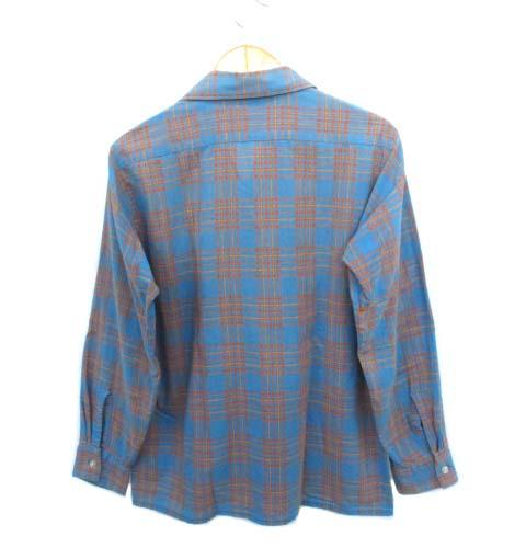 ヴィンテージ VINTAGE 60's 70's アロー ARROW King cotton オープンカラーシャツ 開襟シャツ チェック USA製 M メンズ