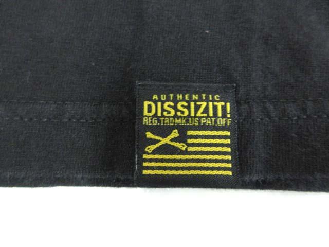 エクストララージ X-LARGE ディスイズイット DISSIZIT Tシャツ 半袖 カットソー トップス USA製 ブラック SM メンズ
