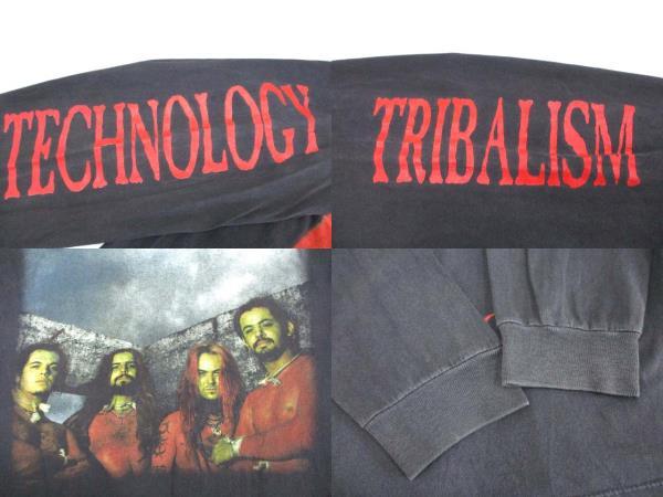 ヴィンテージ VINTAGE 90's セパルトゥラ SEPULTURA ロング Tシャツ 両面プリント USA製 メタル バンドT XL ROOTS BLOODY ROOTS 1996 メンズ