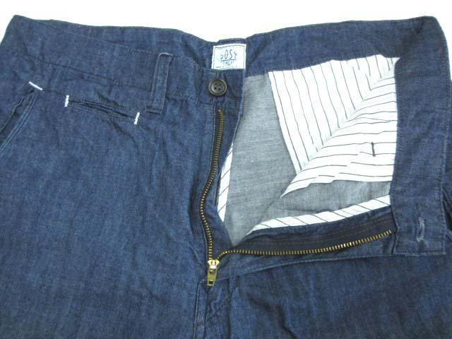 ポストオーバーオールズ  POST O'ALLS ハーフパンツ ショートパンツ ダンガリー USA製 ボトムス ブルー M メンズ