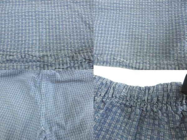 グラミチ GRAMICCI シアサッカー チェック ショートパンツ ハーフパンツ USA製 ボトムス ブルー XL メンズ