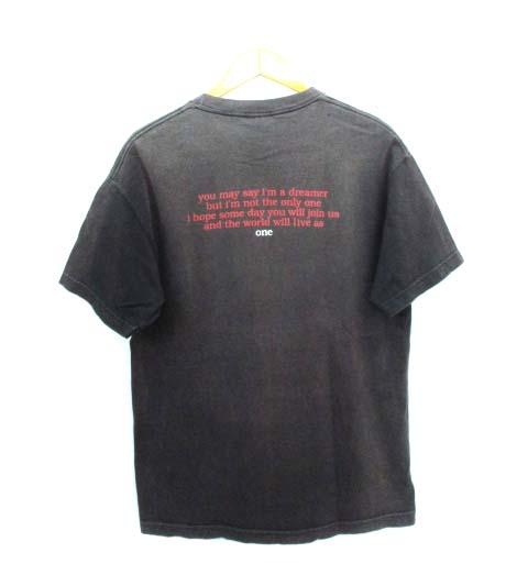 ヴィンテージ VINTAGE 90's ジョンレノン John Lennon フォト アート ミュージック Tシャツ BOB GRUEN 1996 L メンズ