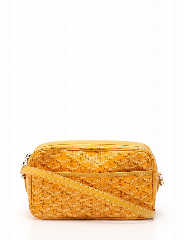 release date 7e2af 07ae7 ゴヤール GOYARD ポシェット ショルダーポーチ 黄色 イエロー バッグ カップヴェール 保存袋付き 【中古】