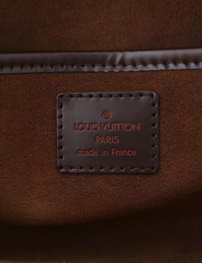 ルイヴィトン LOUIS VUITTON セカンドバッグ クラッチバッグ ダミエ エベヌ 茶色 ブラウン レザー N51993 サンルイ 保存袋付き 【中古】