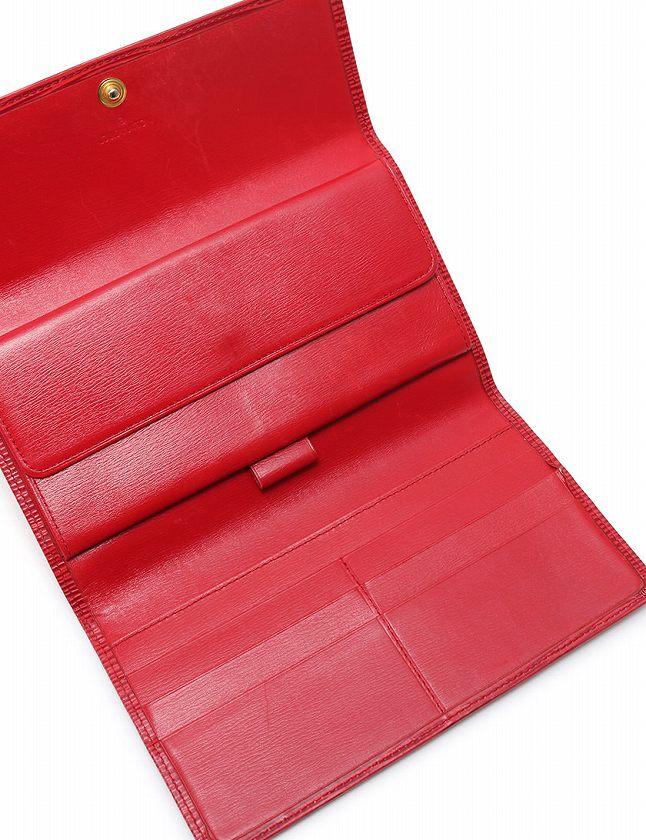 online retailer 4e596 66df6 ルイヴィトン LOUIS VUITTON 長財布 3つ折り エピ 赤 カスティリアンレッド 小物 レザー M63387 ポルト トレゾール  インターナショナル レディース