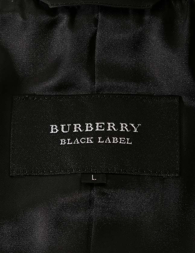 3b158584493c59 ... バーバリーブラックレーベル BURBERRY BLACK LABEL Pコート ピーコート 黒 ブラック L アウター ウール ナイロン  キュプラ