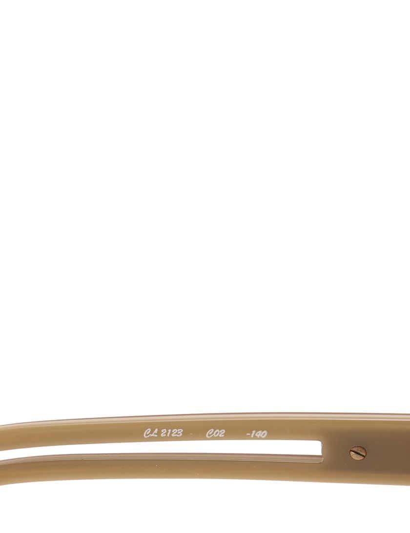 クロエ CHLOE サングラス バタフライ ベージュ 小物 プラスチック CL2123 箱 ケース付き レディース