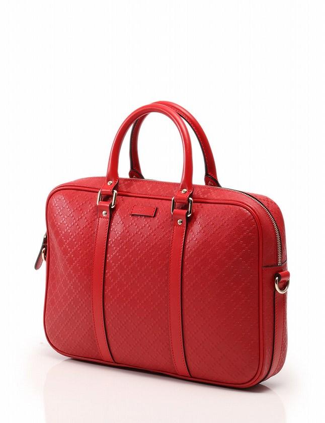 quality design 10c5e cbc7d グッチ GUCCI ビジネスバッグ ブリーフケース ディアマンテ 赤 レッド レザー 344357 保存袋付き メンズ レディース