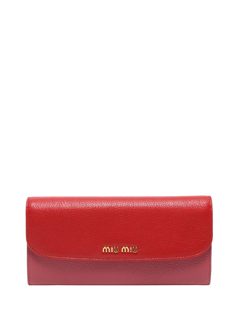 cheaper be8c8 ee0e1 ミュウミュウ miumiu マテラッセ 長財布 赤 ピンク 小物 5MH109 保存袋 ギャラ パスケース付き レディース