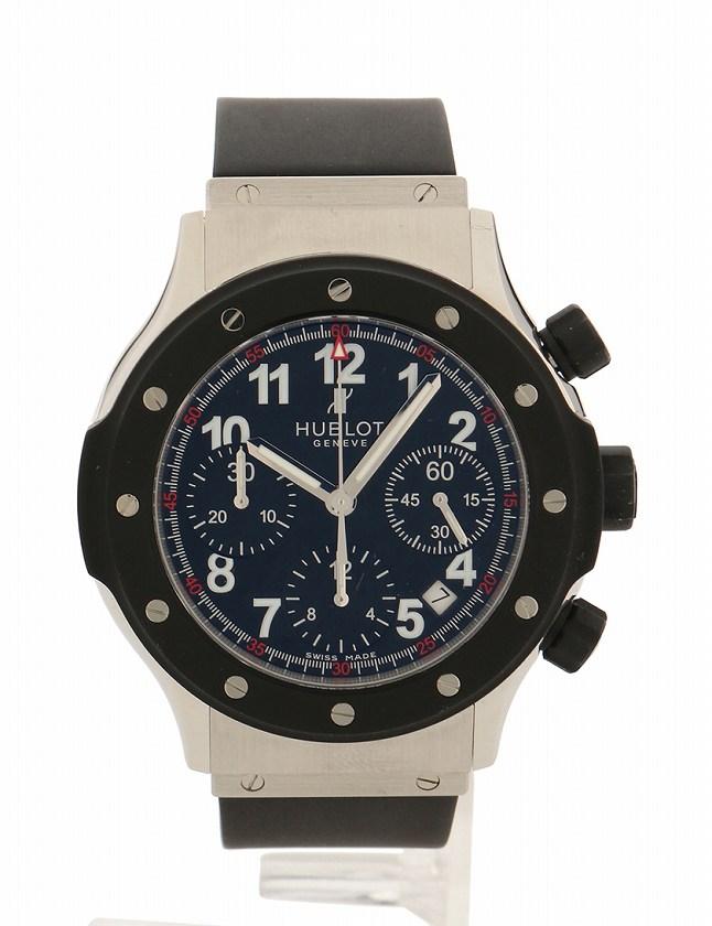 quality design eb266 a1708 ウブロ HUBLOT 腕時計 スーパーB ブラックマジック クロノグラフ シルバー 黒 自動巻き SS ラバー  1926.NL30.10/B1926.10 箱 ケース付き メンズ
