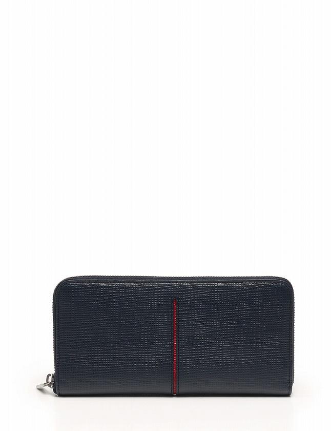 9647777998fd トッズ TOD'S 長財布 ラウンドファスナー ネイビー 赤 小物 レザー 箱付き レディース