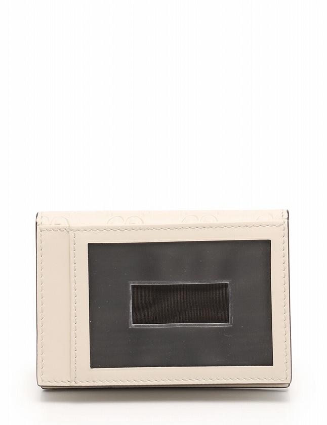 グッチ GUCCI カードケース パスケース グッチシマ 白 アイボリー ゴールド 小物 レザー 388684 箱 保存袋付き レディース