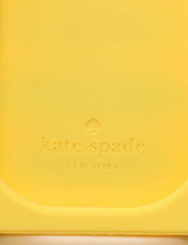 ケイトスペード KATE SPADE iPhone 4 ケース スマホ カバー 黄色 マルチカラー 小物 ボーダー シリコン 箱付き レディース