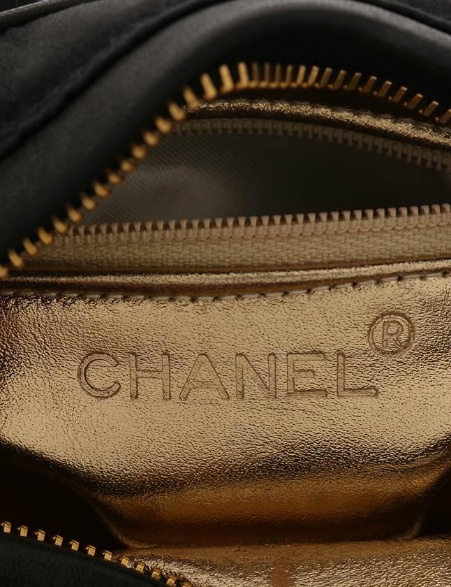シャネル CHANEL ショルダーバッグ ポシェット カメリア 黒 ブラック サテン ギャラ付き レディース