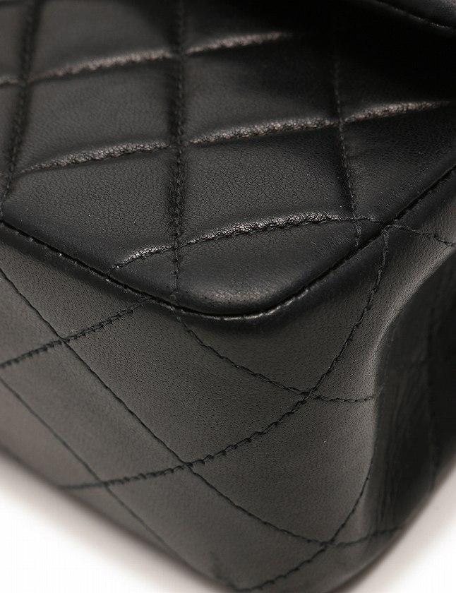 シャネル CHANEL ショルダーバッグ マトラッセ Wフラップ Wチェーン 黒 ブラック ゴールド ラムスキン A01113 保存袋 シリアル ブティックシール付き レディース