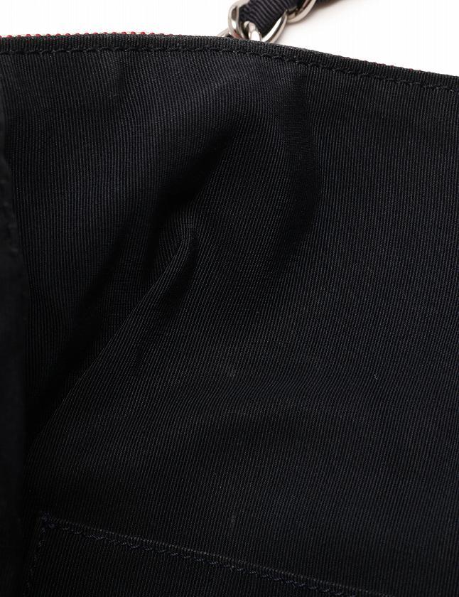 シャネル CHANEL トートバッグ ショルダーバッグ チェーン デニム マトラッセステッチ ココマーク クルーズライン 青 赤 キャンバス A48450 ギャラ付き レディース