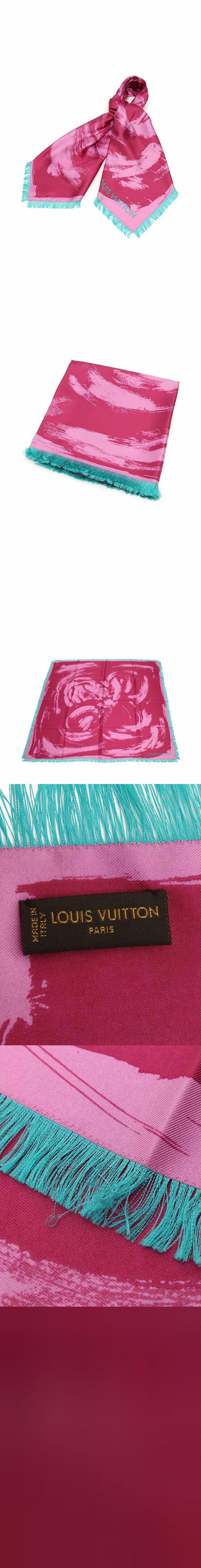 スカーフ スクエア カレ アーティー ピンク 緑 小物 シルク100% M74876 箱付き