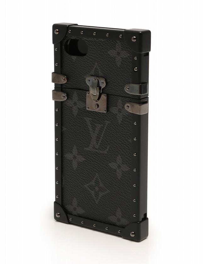 ルイヴィトン LOUIS VUITTON アイフォン7ケース アイ トランク IPHONE7 モノグラム エクリプス 黒 ブラック 小物 PVC  M64489 箱 保存袋付き レディース