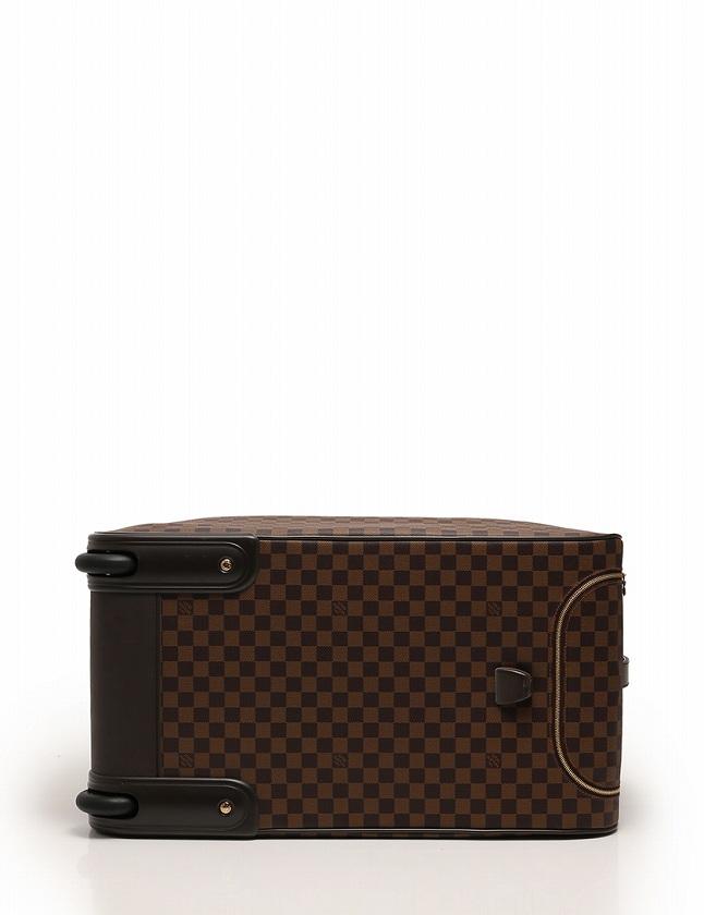 ルイヴィトン LOUIS VUITTON ボストンバッグ キャリーケース エオール 60 ダミエ エベヌ 茶色 ブラウン PVC レザー N23203 ネームタグ ポワニエ付き メンズ レディース