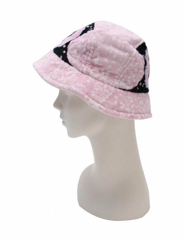 046a6570fef3 シャネル CHANEL 帽子 ハット クロッシェ ココマーク パイル ピンク 黒 小物 コットン100% 綿 レディース ...