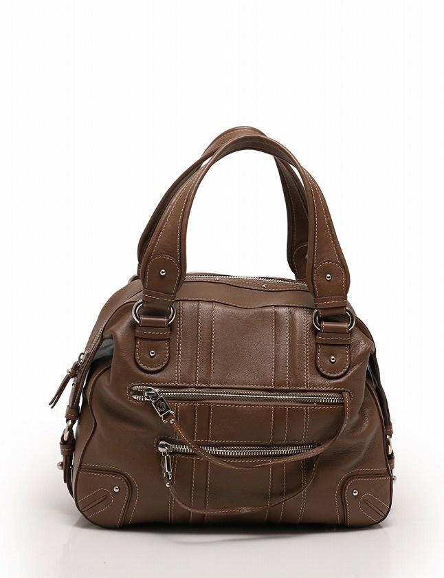 マークジェイコブス MARC JACOBS ボストンバッグ ハンドバッグ 茶色 ブラウン レザー 保存袋付き レディース