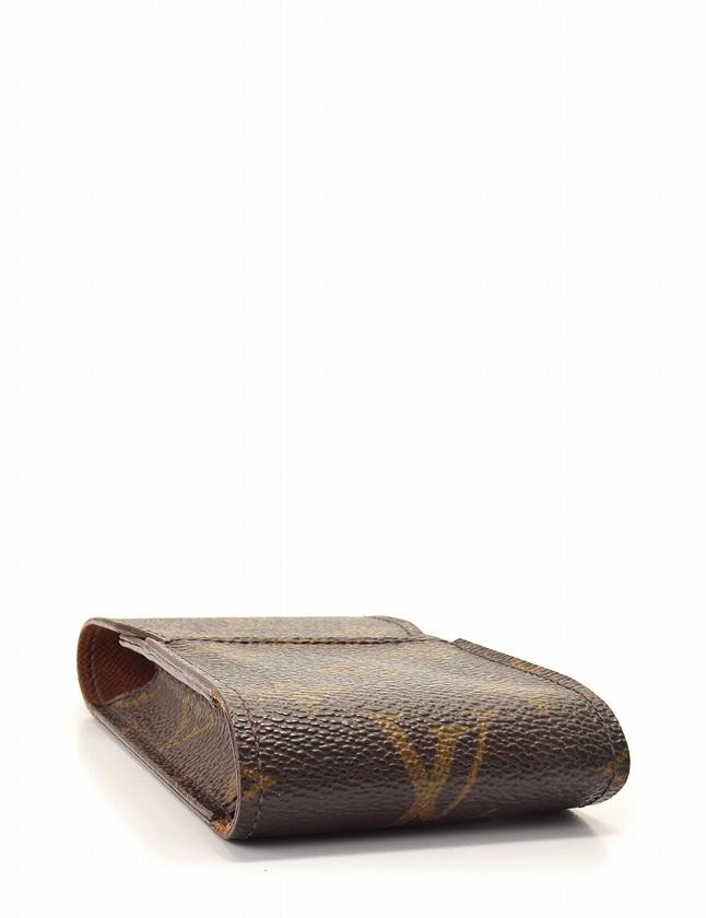 ルイヴィトン LOUIS VUITTON タバコケース エテュイ シガレット モノグラム 茶色 ブラウン 小物 PVC M63024 保存袋付き メンズ レディース