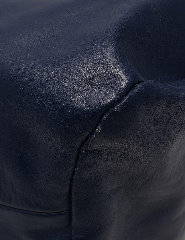 マルタンマルジェラ Martin Margiela 11 ショルダーバッグ ハンドバッグ ネイビー 紺 茶色 レザー S56WG0044 2WAY メンズ レディース