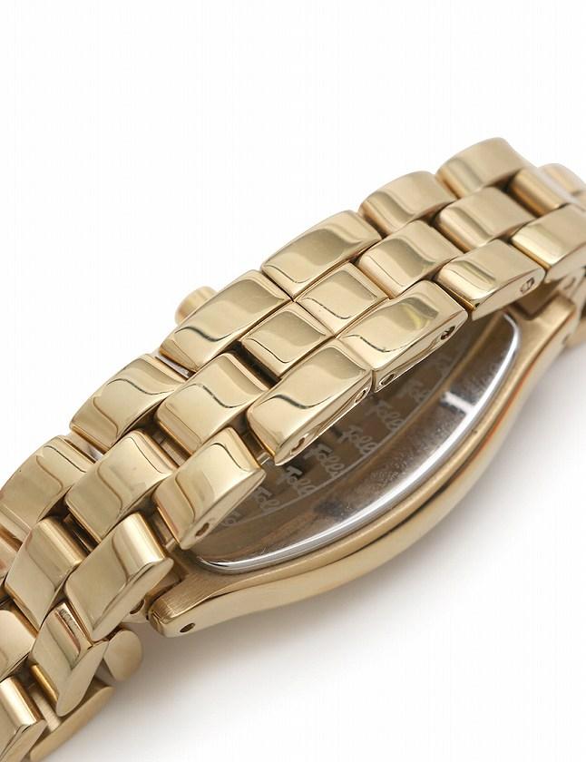 フォリフォリ Folli Follie 腕時計 ラインストーンベゼル ゴールド クオーツ SS ガラス WF5G084BPS 箱 保証書付き レディース