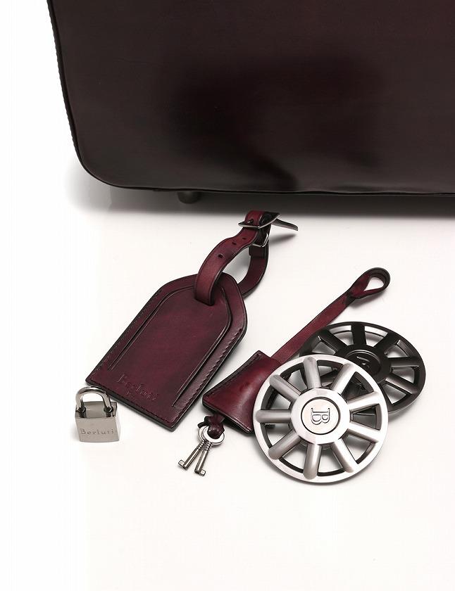 ベルルッティ Berluti ボストンバッグ スーツケース キャリーバッグ フォーミュラ 紫 パープル レザー FORMULA 1000 保存袋 カデナ付き メンズ