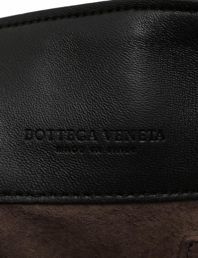 ボッテガヴェネタ BOTTEGA VENETA ショルダーバッグ クロスボディ イントレチャート チェーン 黒 ブラック レザー ミラー付き 2WAY レディース