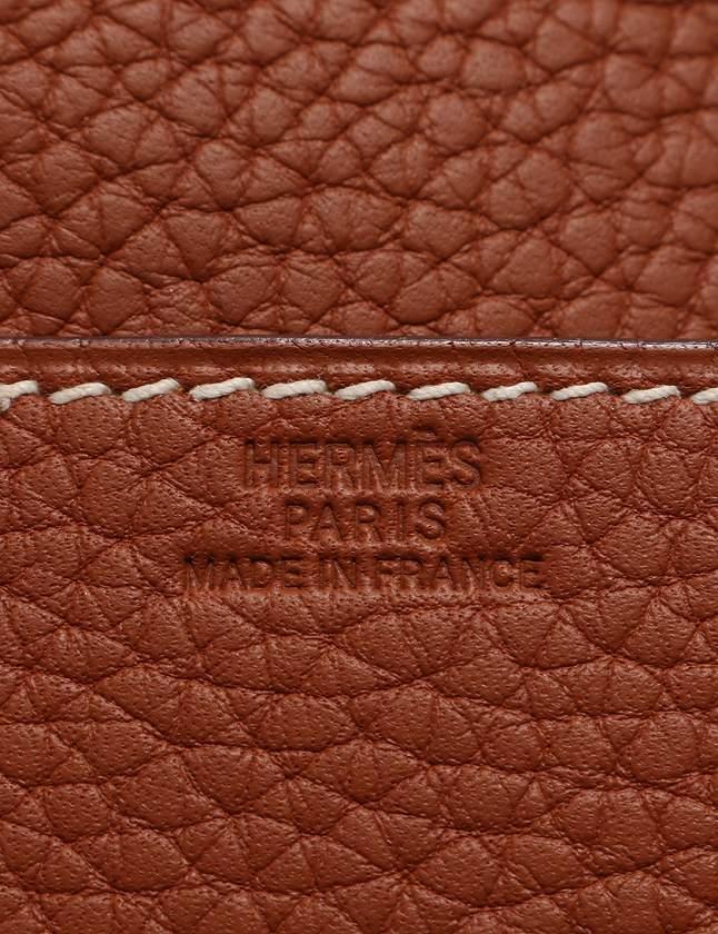 エルメス HERMES トランプケース 茶色 ブラウン □I刻印 小物 トリヨンクレマンス 箱付き メンズ レディース
