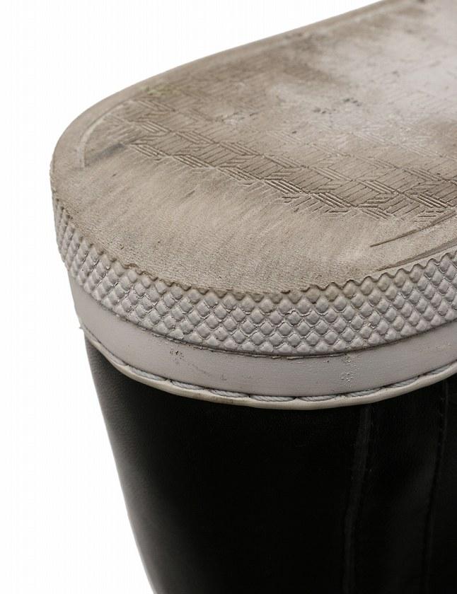 ピエールアルディ PIERRE HARDY スニーカー ハイカット ボア レザー 黒 ブラック 22cm シューズ 35 レザー ファー 箱 保存袋付き レディース