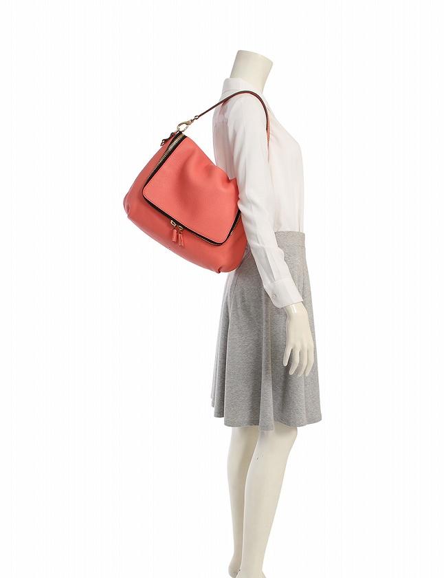 アニヤハインドマーチ ANYA HINDMARCH ショルダーバッグ ピンク 黒 レザー Maxi Vere Satchel 保存袋 スト付き レディース