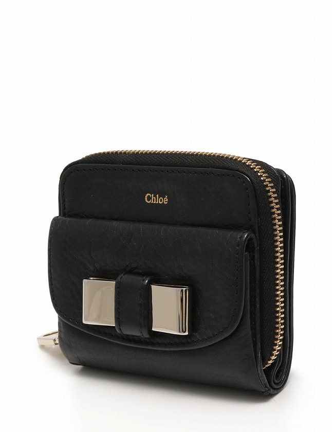 sale retailer 8513b b3aaa クロエ CHLOE 財布 二つ折り リリィ ラウンドファスナー 黒 ブラック 小物 レザー レディース