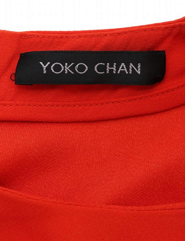 ヨーコチャン YOKO CHAN ワンピース オレンジ L 五分袖 ミニ丈 無地 40 レーヨン YCD-057 レディース
