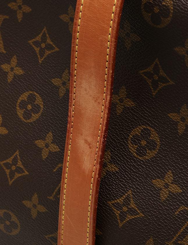 ルイヴィトン LOUIS VUITTON ショルダーバッグ メッセンジャーバッグ ソミュール モノグラム 茶色 ブラウン PVC レザー M42252 保存袋付き メンズ レディース