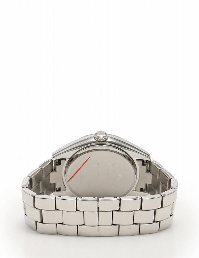 ケイトスペード KATE SPADE 腕時計 シルバー 白 ピンク クオーツ SS 箱 説明書付き レディース