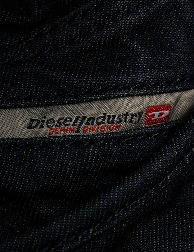 ディーゼル DIESEL ショルダーバッグ ネイビー 紺 黒 ブロンズ デニム レザー スタッズ レディース