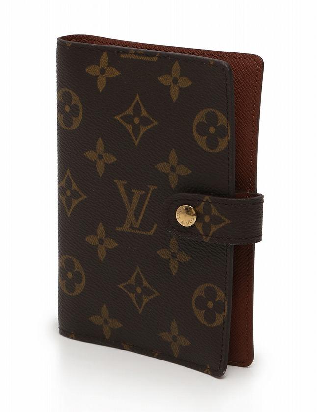 ルイヴィトン LOUIS VUITTON 手帳カバー アジェンダ PM モノグラム 茶色 ブラウン 小物 PVC レザー R20005 レディース