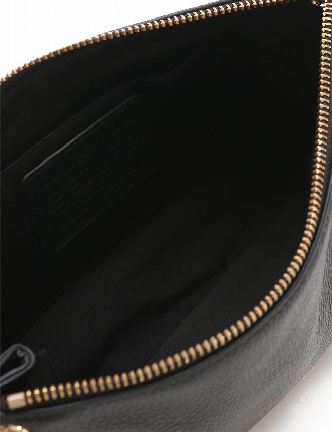 041d29a88cab コーチ COACH ショルダーバッグ ポシェット チャーリー クロスボディー 黒 ブラック レザー F55661 保存袋付き レディース ...