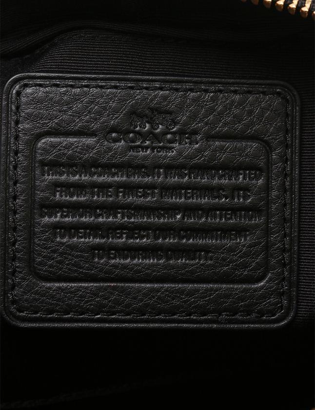 55732227eb72 ... コーチ COACH ショルダーバッグ ポシェット チャーリー クロスボディー 黒 ブラック レザー F55661 保存袋付き レディース ...
