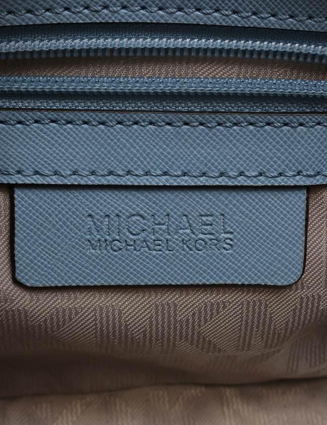 マイケルマイケルコース Michael michael kors ショルダーバッグ ポシェット セルマ 水色 ライトブルー レザー レディース